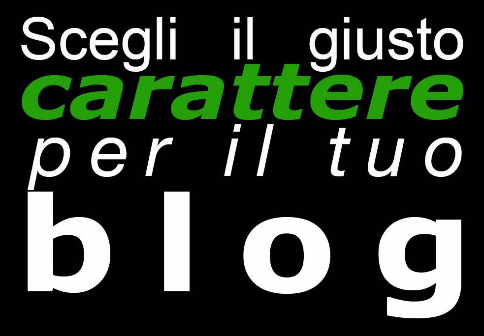Scegli il font per il tuo blog